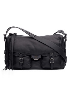 rag & bone Field Puffer Leather Messenger Bag