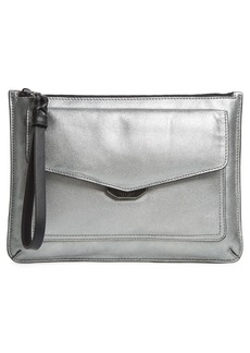rag & bone Field Puffer Leather Wristlet