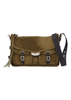 Rag & Bone Field Suede/Leather Crossbody Messenger Bag