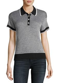 Rag & Bone Finn Button-Up Polo Sweater