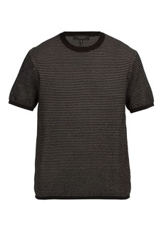 Rag & Bone Finn jacquard-knit cotton-blend T-shirt