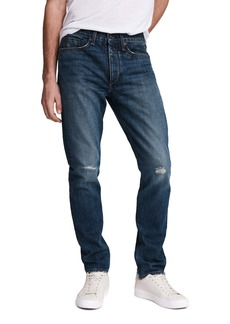 rag & bone Fit 2 Ripped Slim Fit Nonstretch Jeans (Redwood)