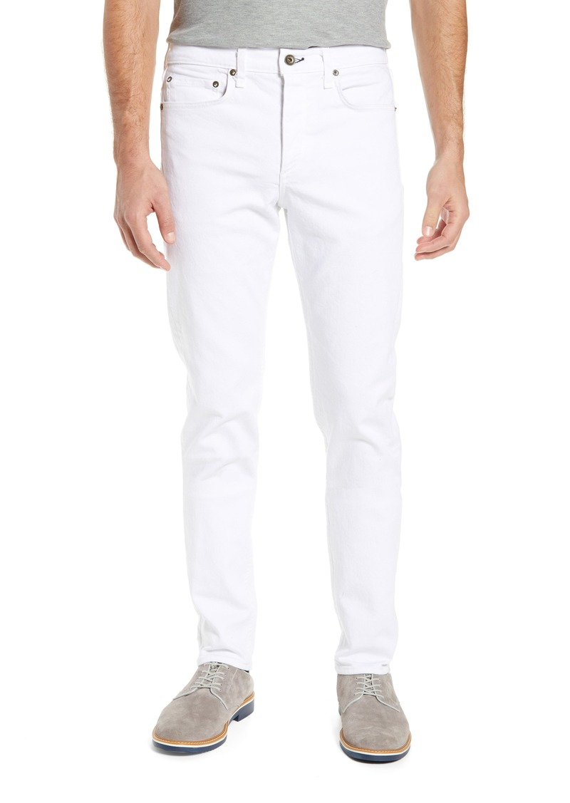 rag & bone Fit 2 Slim Fit Jeans (White Broken Twill)