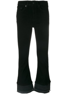 Rag & Bone flared cropped trousers - Black