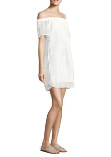 Rag & Bone Flavia Eyelet Off-The-Shoulder Dress