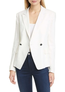 rag & bone Fletcher Double Breasted Linen Blend Blazer