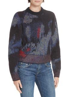 rag & bone Fleur Metallic Jacquard Sweater