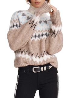 rag & bone Fran Fair Isle Turtleneck Sweater
