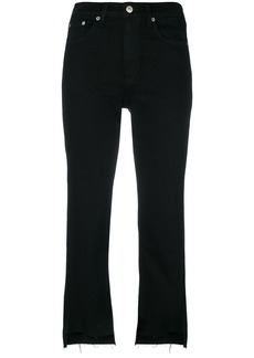 Rag & Bone frayed cropped jeans - Black