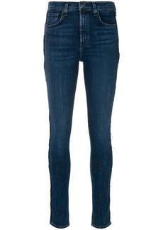Rag & Bone frayed seam skinny jeans - Blue