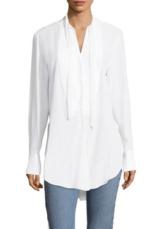 Rag & Bone Frida Tux Silk Blouse