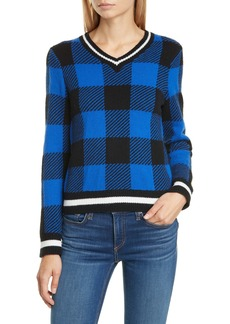 rag & bone Gabby Buffalo Check Merino Wool Sweater