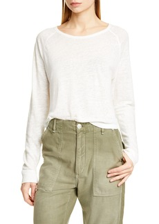 rag & bone Gage High/Low Linen Top