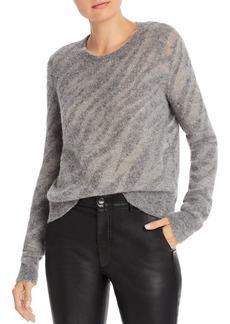 rag & bone Germain Metallic Detail Zebra Sweater
