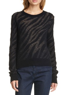 rag & bone Germain Metallic Zebra Jacquard Sweater