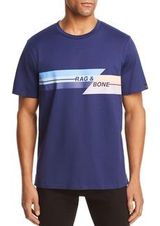 rag & bone Glitch Graphic Logo Tee