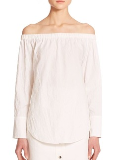 Rag & Bone Greta Off-The-Shoulder Blouse