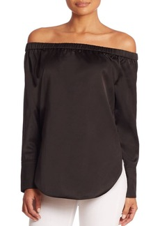 Rag & Bone Greta Silk Off-The-Shoulder Blouse