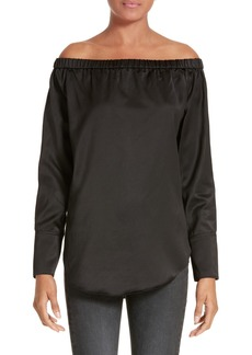 rag & bone Greta Silk Off the Shoulder Blouse