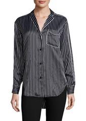 Rag & Bone Hahn Pinstripe Silk Pajama Shirt