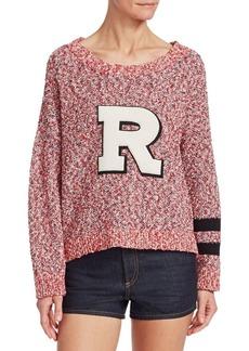 Rag & Bone Halstead Cotton Letter R Sweater