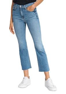 rag & bone Hana Cropped Flared Jeans in Levee