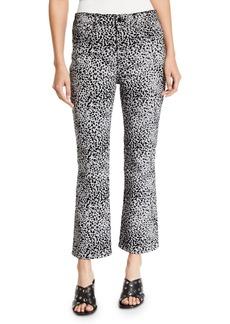 Rag & Bone Hana High-Rise Flare Cheetah-Print Jeans