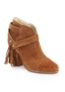 Rag & Bone Harrow Fringe Suede Booties