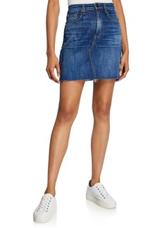 Rag & Bone Hayden Cutoff Denim Mini Skirt