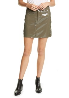 rag & bone Hayden Faux Leather Skirt