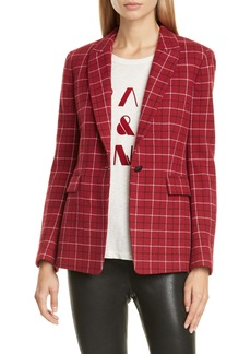 rag & bone Hazel Check Wool Blend Blazer
