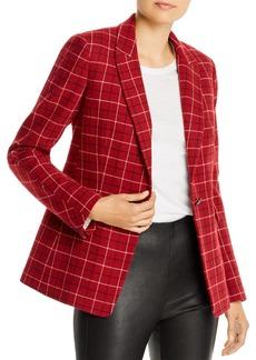 rag & bone Hazel Wool-Blend Checkered Blazer