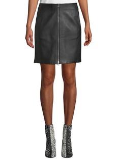 Rag & Bone Heidi A-Line Lamb Leather Mini Skirt
