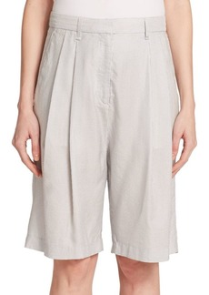 Rag & Bone Hemstead Striped Silk & Cotton Bermuda Shorts