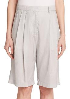 Rag & Bone Hemstead Striped Silk & Cotton Bermuda Shorts