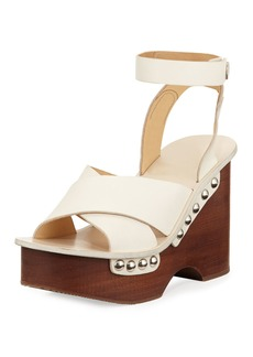 Rag & Bone Hester Leather Wedge Sandal