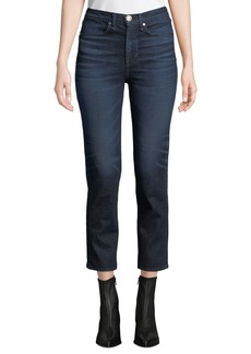 Rag & Bone High-Rise Ankle Cigarette Jeans