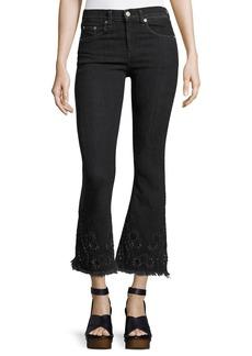Rag & Bone High-Rise Crop Flare Denim Jeans