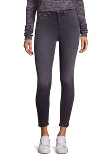 Rag & Bone High-Rise Side Slit Capri Skinny Jeans