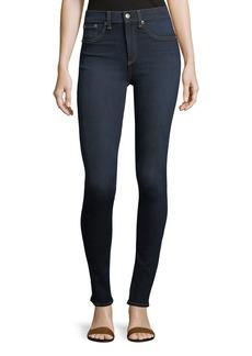 Rag & Bone High Rise Skinny Jeans  Dark Blue