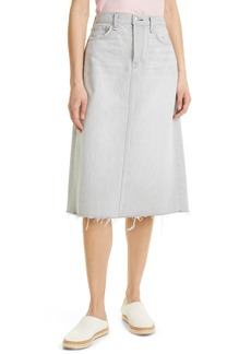 rag & bone High Waist A-Line Denim Midi Skirt