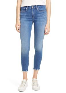 rag & bone Cate Chewed Hem Crop Skinny Jeans (Flint)