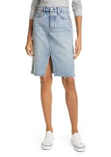 rag & bone High Waist Denim Skirt