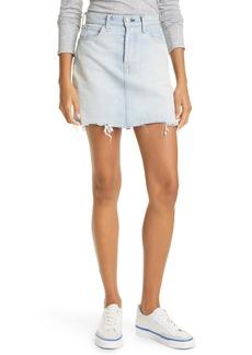 rag & bone High Waist Fray Hem Denim Miniskirt