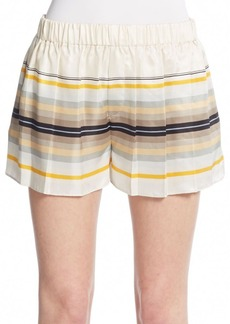 Rag & Bone Holten Striped Silk Shorts