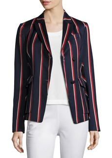 Rag & Bone Howson Striped Asymmetric Blazer