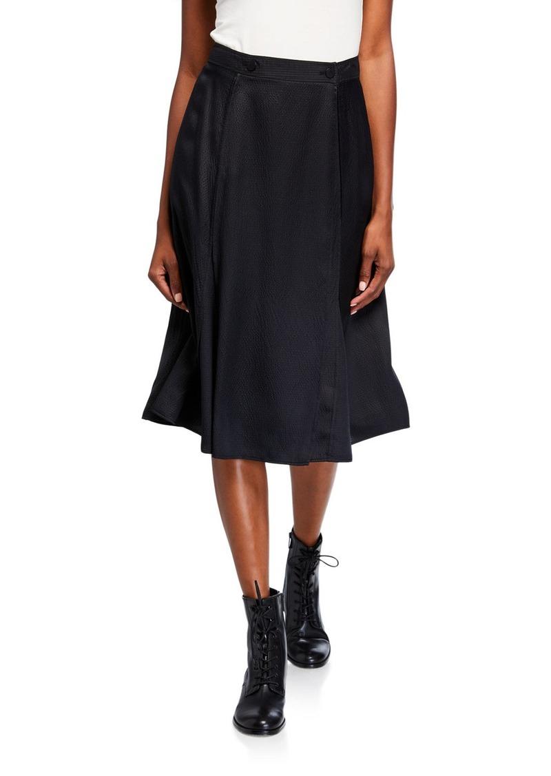 Rag & Bone Hugo Hammered Silk Wrap Skirt