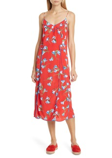rag & bone Hugo Piped Floral Midi Dress