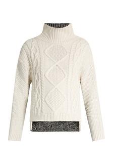 Rag & Bone Ida contrast-back wool sweater