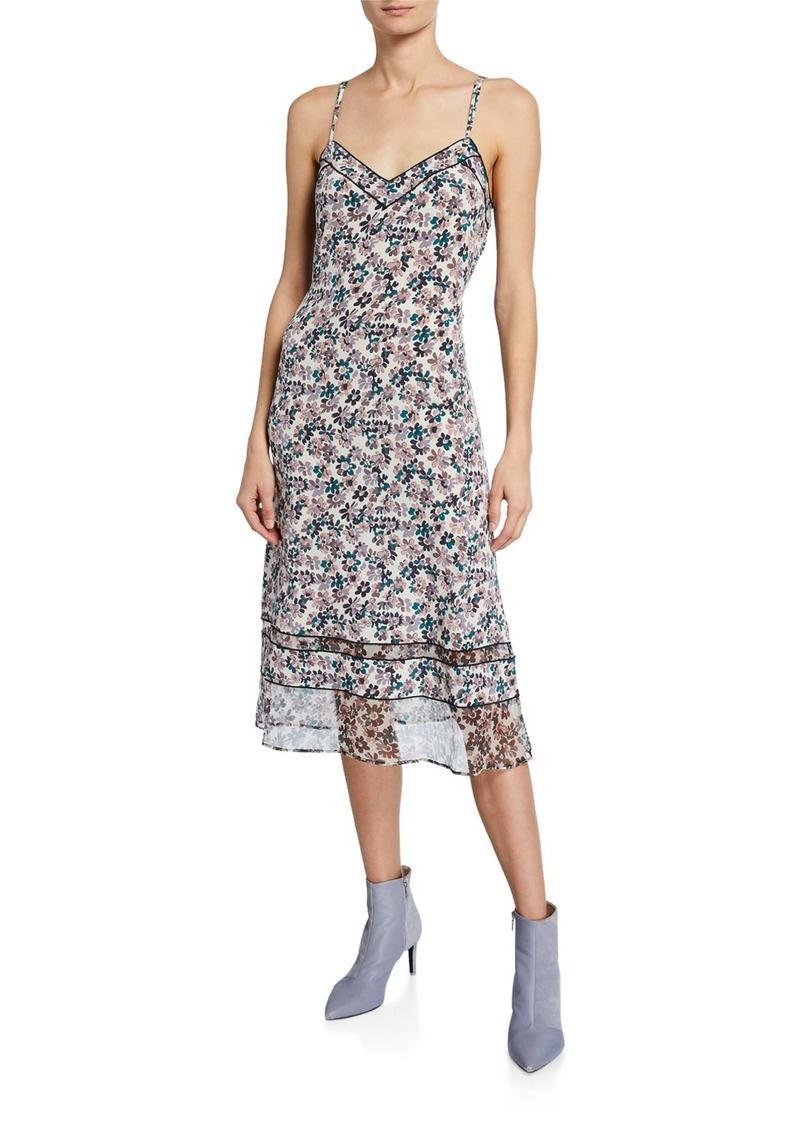 Rag & Bone Ilona Silk Chiffon Floral Slip Dress